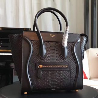 You Re Viewing 50 Off Celine Micro Luggage Bag In Black Python Leather Chandler Az Belt 1366 151 20