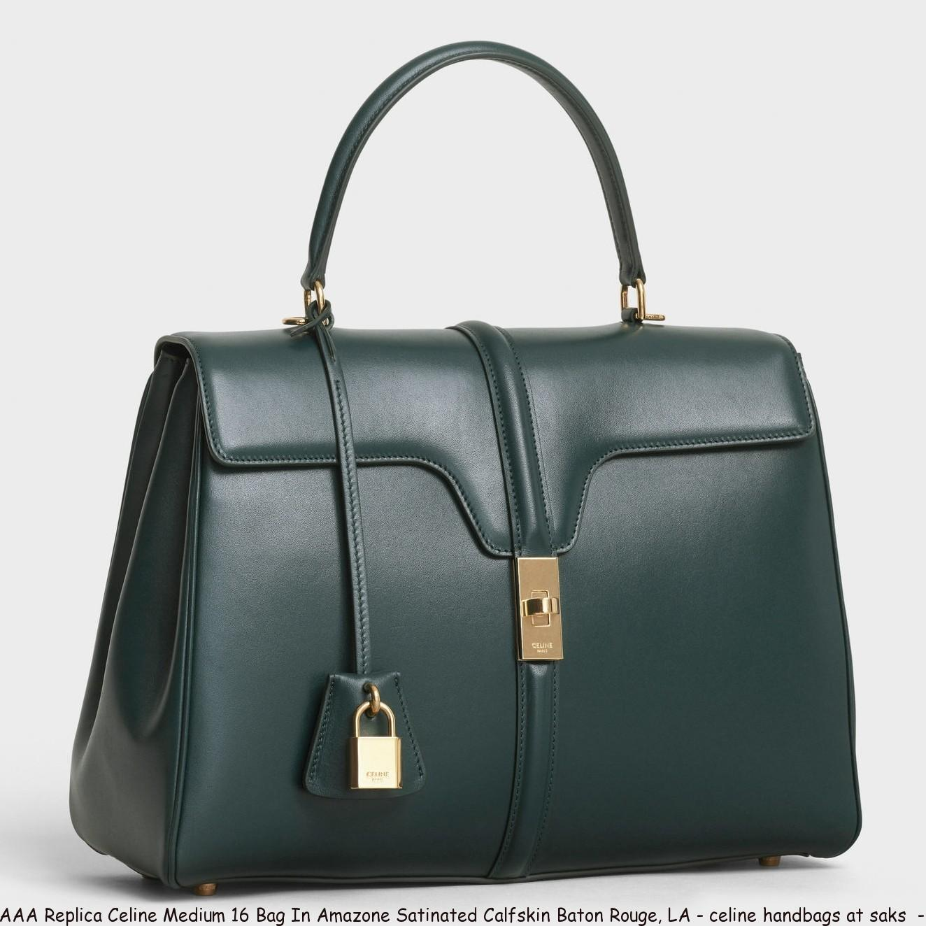 f6a4e42c295 AAA Replica Celine Medium 16 Bag In Amazone Satinated Calfskin Baton ...