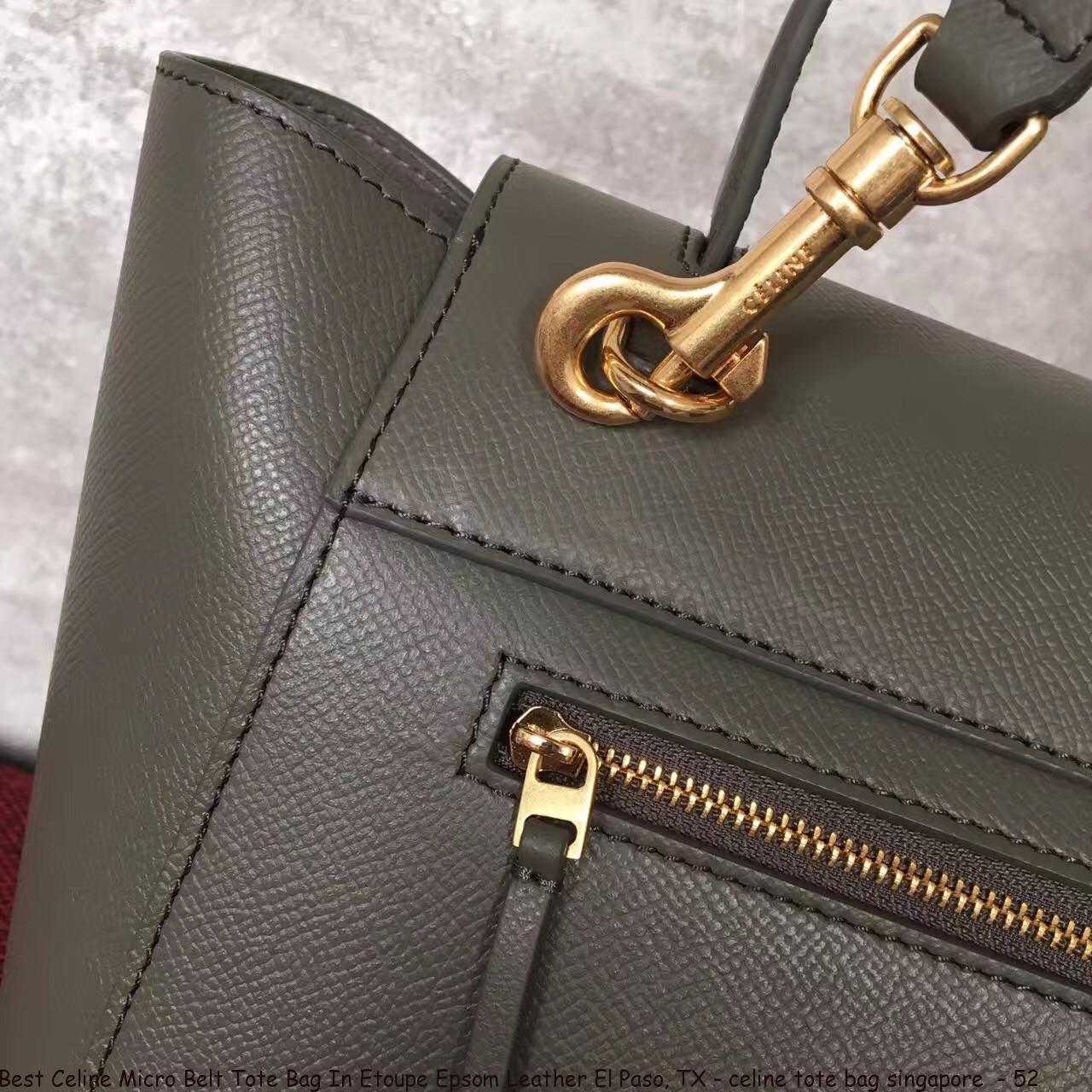 5be61cb928f9 Best Celine Micro Belt Tote Bag In Etoupe Epsom Leather El Paso