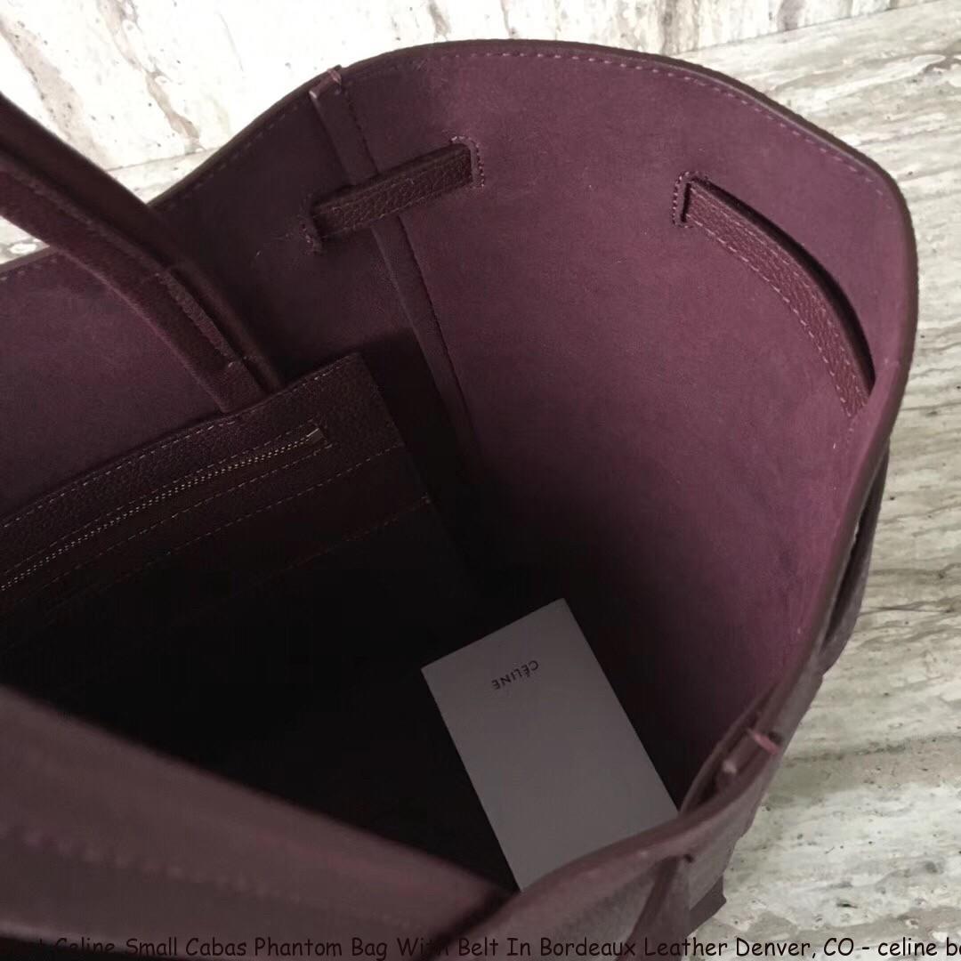 855ebd05b17a Best Celine Small Cabas Phantom Bag With Belt In Bordeaux Leather ...