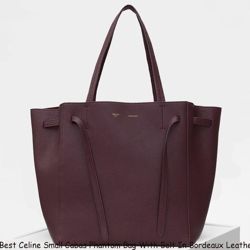 89147497ad6 Best Celine Small Cabas Phantom Bag With Belt In Bordeaux Leather ...