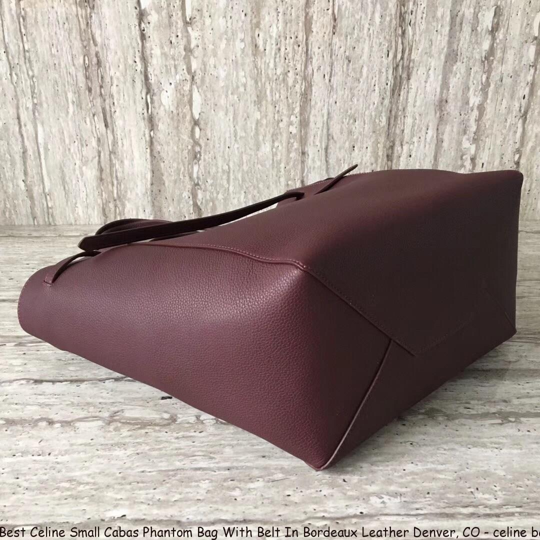3fc9b753f Best Celine Small Cabas Phantom Bag With Belt In Bordeaux Leather ...