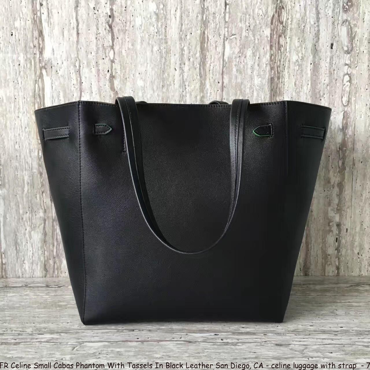 399a648a0159 FR Celine Small Cabas Phantom With Tassels In Black Leather San ...