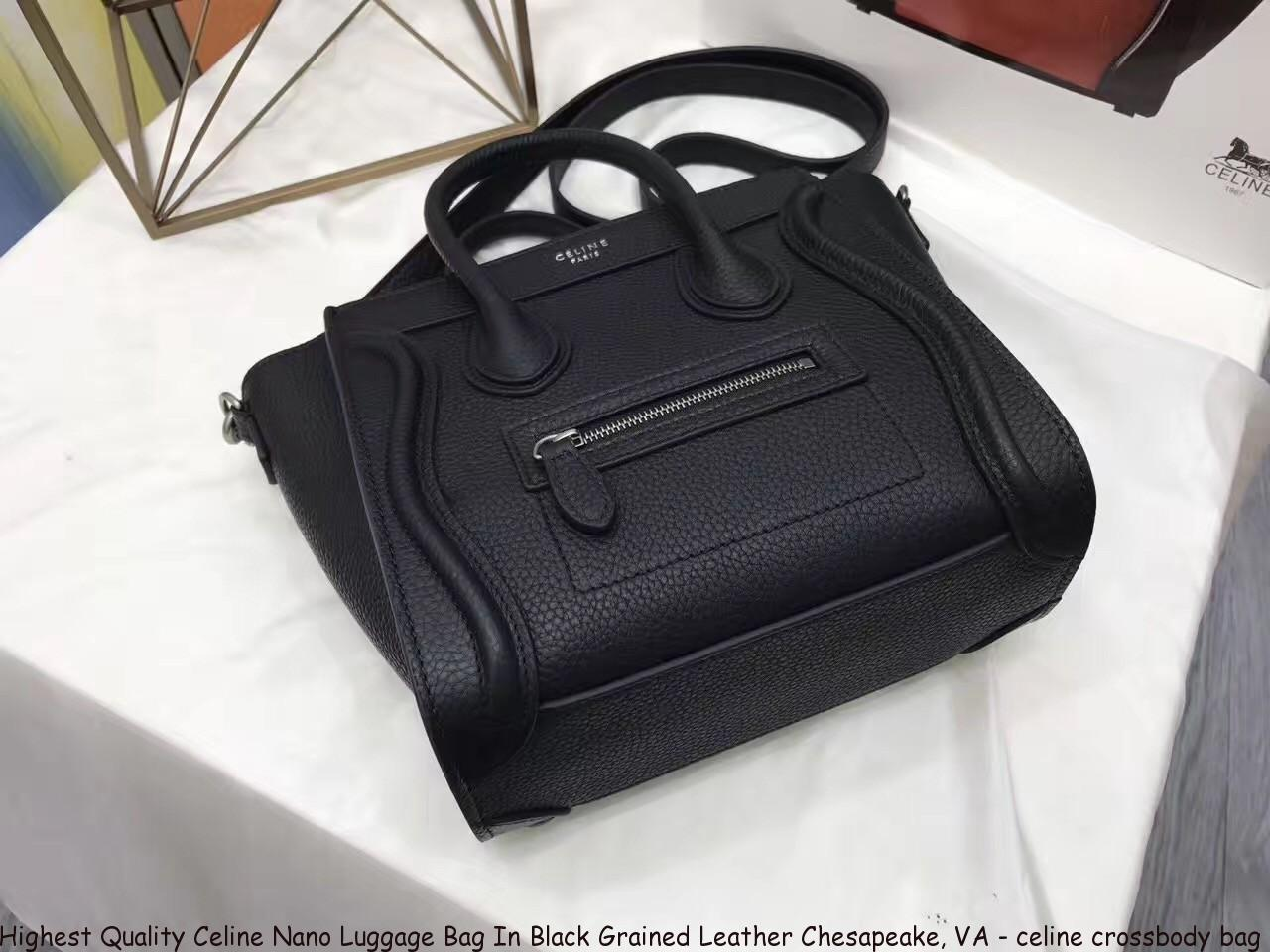 c99b61764934 Highest Quality Celine Nano Luggage Bag In Black Grained Leather  Chesapeake