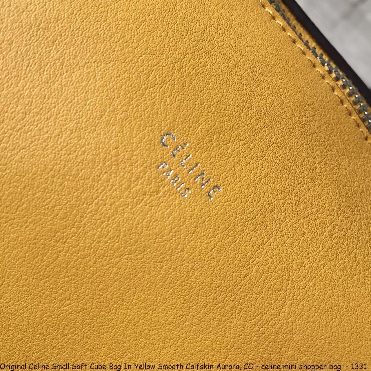 8477e9849f86 Original Celine Small Soft Cube Bag In Yellow Smooth Calfskin Aurora ...