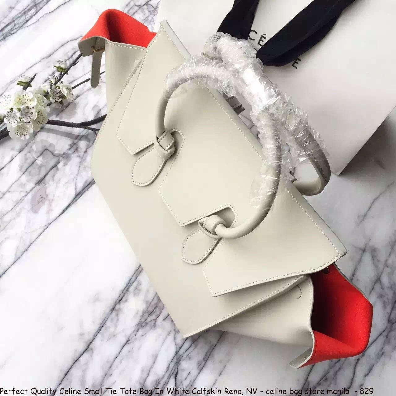 Perfect Quality Celine Small Tie Tote Bag In White Calfskin Reno b3d5d132a58f0