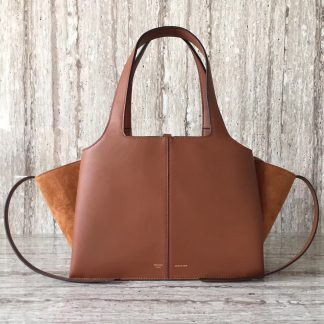f46fb80cea The Best Celine Small Tri-Fold Bag In Brown Calfskin And Suede Hialeah