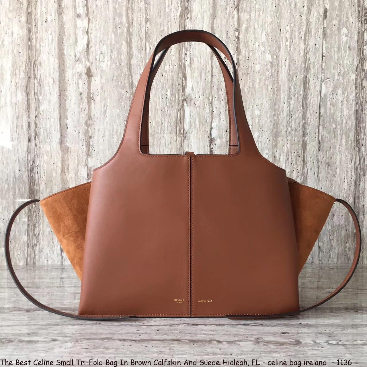 d657da54eb5 The Best Celine Small Tri-Fold Bag In Brown Calfskin And Suede Hialeah, FL  - celine bag ireland - 1136