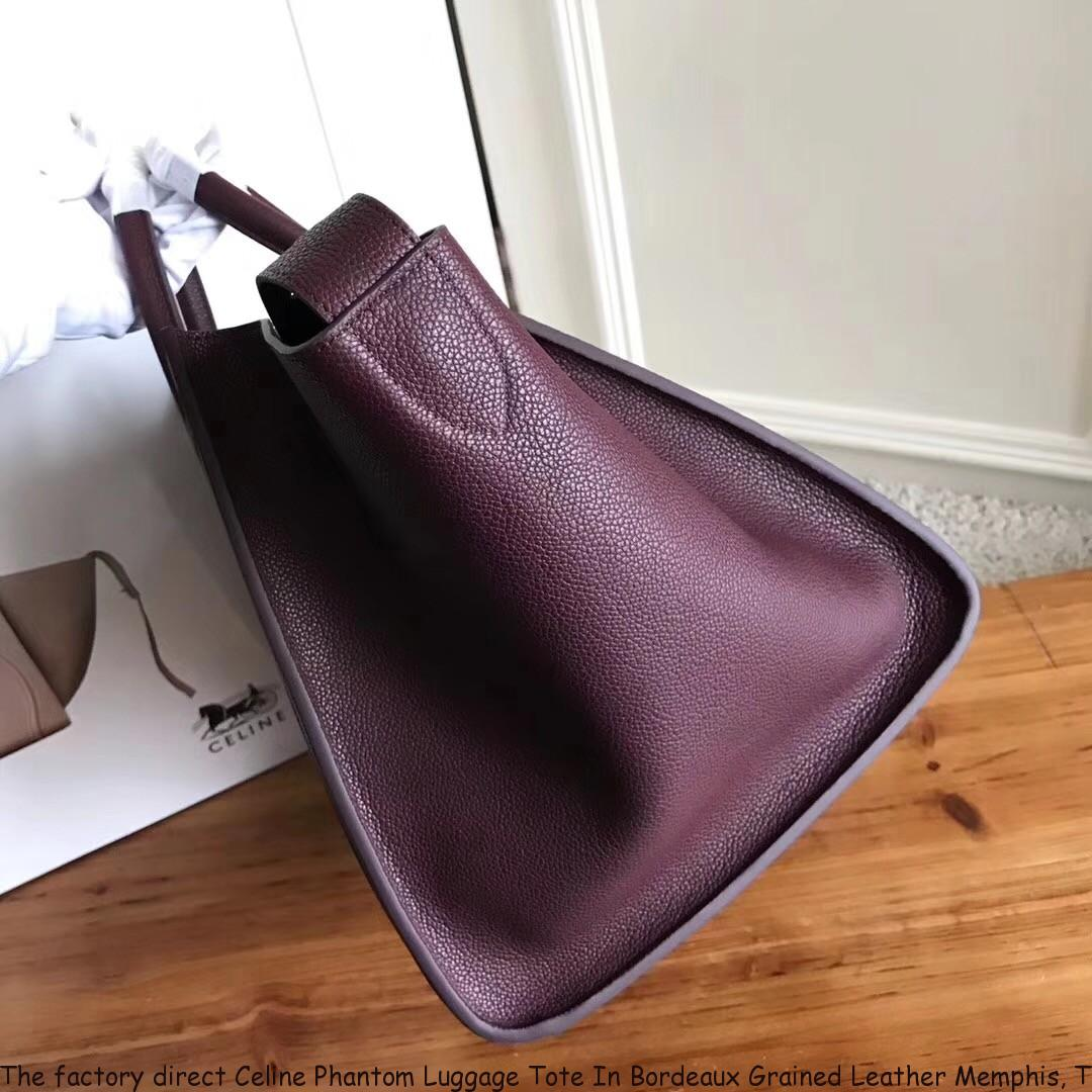 The factory direct Celine Phantom Luggage Tote In Bordeaux Grained ... 263409d80e69e